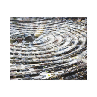 Pebbles Whirlpool Canvas Print