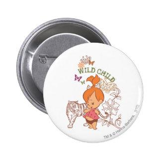 PEBBLES™ Wild Child 6 Cm Round Badge
