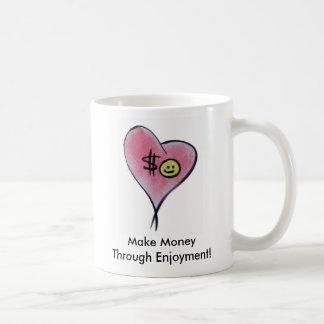 PebbleStorm Heart, Make Money Through Enjoyment Coffee Mug