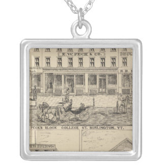 Peck's Block Silver Plated Necklace