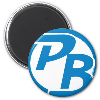 Pecky Boyz Logo ID 6 Cm Round Magnet