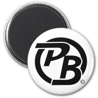 Pecky Boyz Logo ID (Black) 6 Cm Round Magnet