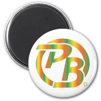 Pecky Boyz Logo ID Multi Colored 6 Cm Round Magnet