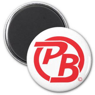 Pecky Boyz logo ID Red 6 Cm Round Magnet