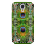 Pecock Feather Pattern - Emerald Green Galaxy S4 Cover