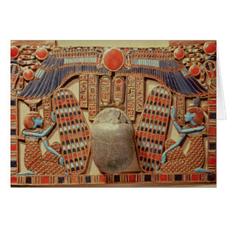 Pectoral decorated with the winged scarab card