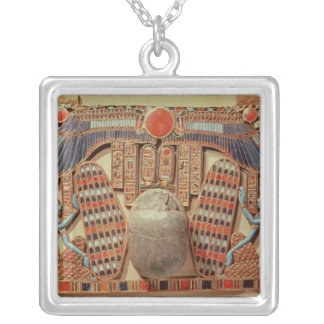 Pectoral decorated with the winged scarab silver plated necklace