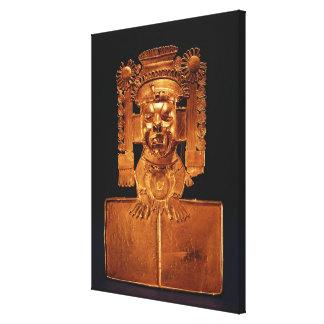 Pectoral of the god Xipe Totec Canvas Print