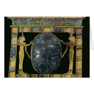 Pectoral of the vizier, Paser, with scarab Card