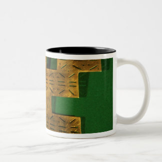 Pectoral ornament of the Tolima Region Two-Tone Coffee Mug
