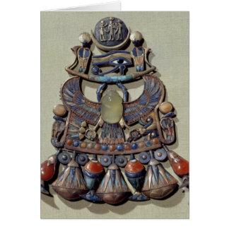 Pectoral with bird-scarab card