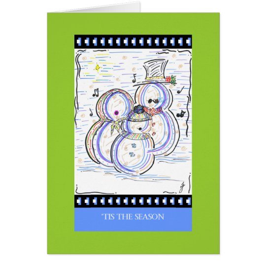 PedagogyGreetings Cards: Let It Snow Man! Card