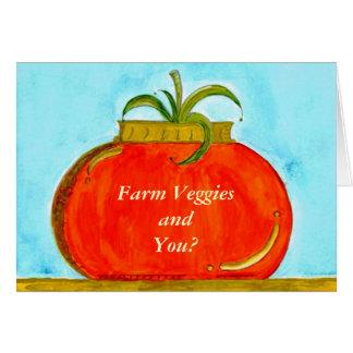 PedagogyGreetings: Pure Tomato (Customizable) Card