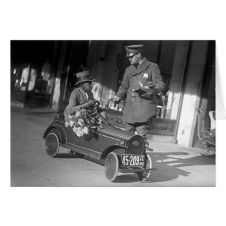 Pedal Car Traffic Stop 1922 Card