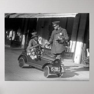 Pedal Car Traffic Stop 1922 Poster