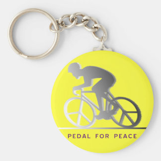 PEDAL FOR PEACE - gray Basic Round Button Key Ring
