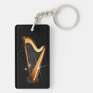 Pedal Harp Keychain