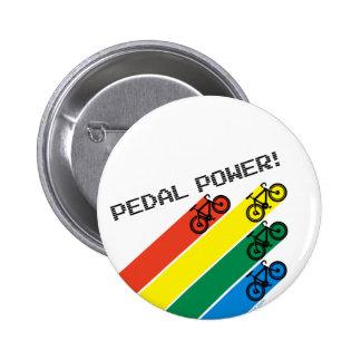 Pedal Power! 6 Cm Round Badge