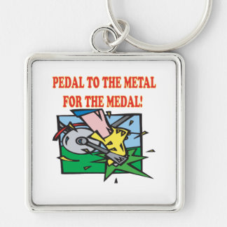 Pedal To The Medal 2 Keychains