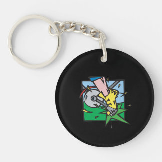 Pedal To The Metal Acrylic Keychain