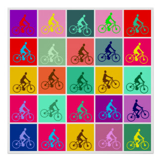 Pedalling Pop Posters