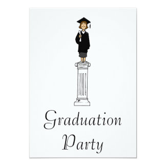 Pedestal Graduate 13 Cm X 18 Cm Invitation Card