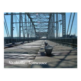 Pedestrian Bridge at the Riverfront Postcard