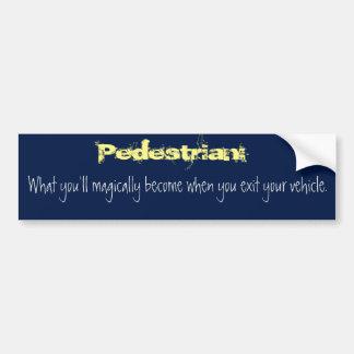 Pedestrian Bumper Sticker