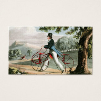 Pedestrian Hobbyhorse Vintage Bicycle Custom Business Card
