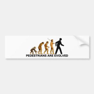 Pedestrians Are Evolved Bumper Sticker