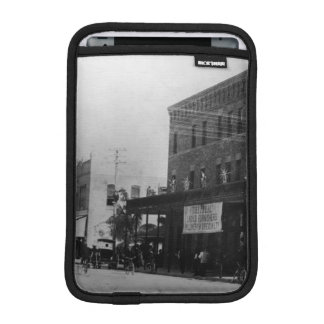 Pedestrians, cyclists, and horse-carriages iPad mini sleeve