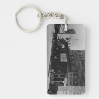 Pedestrians, cyclists, and horse-carriages key ring