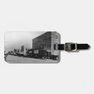 Pedestrians, cyclists, and horse-carriages luggage tag