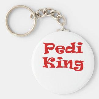 Pedi King Basic Round Button Key Ring