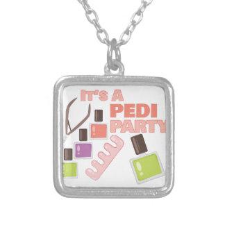 Pedi Party Square Pendant Necklace