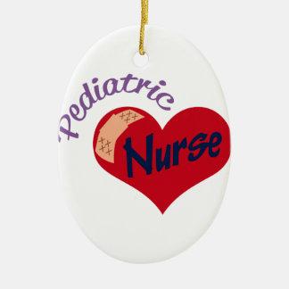 Pediatric Nurse Ceramic Oval Decoration