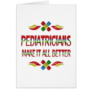 PEDIATRICIAN APPRECIATION GREETING CARDS