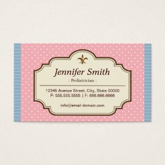 Pediatrician - Cute Polka Dots Business Card