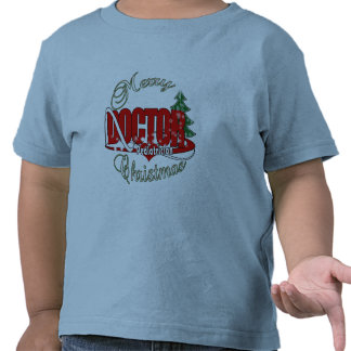 PEDIATRICIAN DOCTOR MERRY CHRISTMAS T-SHIRTS