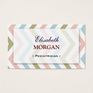 Pediatrician - Natural Graceful Chevron Business Card