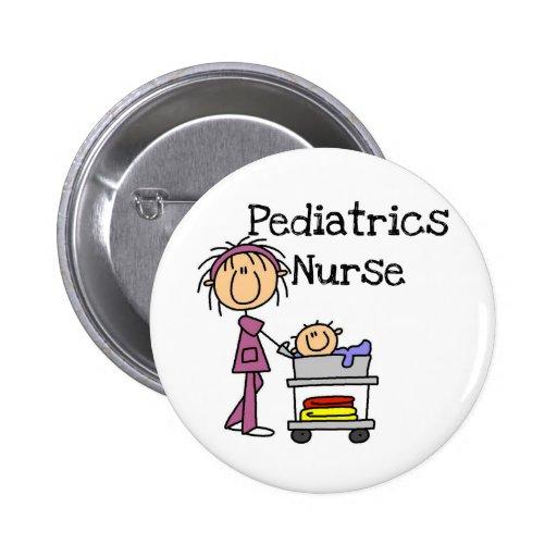 Pediatrics Nurse T-shirts and Gifts Button