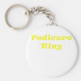 Pedicure King Basic Round Button Key Ring