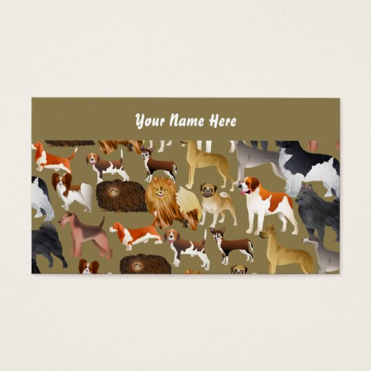 Pedigree Dog Wallpaper, Your Name Here Business Card