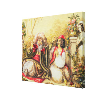 Pedrillo plying Osmin with drink Stretched Canvas Print
