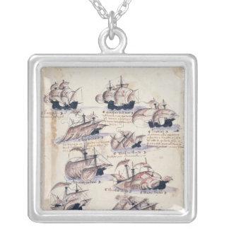 Pedro Alvares Cabral Silver Plated Necklace