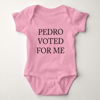 Pedro Voted For Me Baby Bodysuit