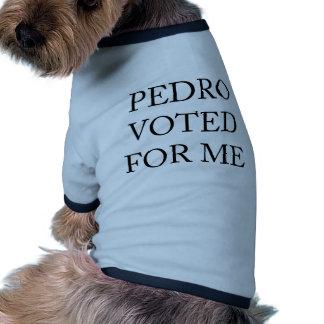 Pedro Voted For Me Ringer Dog Shirt