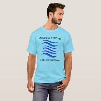 PEE IN THE SEA WAVE GRAPHIC PROVERB TSHIRT