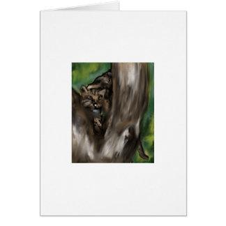 pee-ka-boo hide and seek leopard card