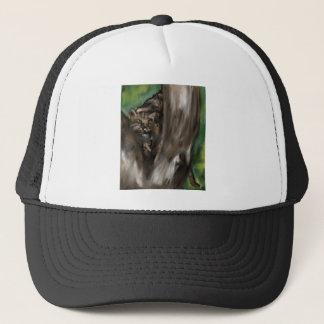 pee-ka-boo hide and seek leopard trucker hat